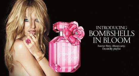Topless Perfume Ads - The Victoria's Secret Bombshells in Bloom Campaign Stars Candice Swanepo