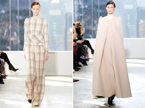 Textured Futuristic Couture - The Delpozo Fall 2014 Collection is Ethereally Unique