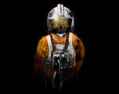 Commanding Intergalactic Aviator Prints - These Star Wars Pilot Prints Show Lesser-Known Characters