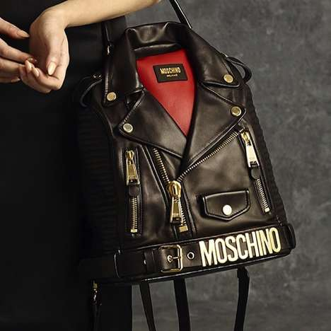 Moto Jacket-Inspired Handbags - The Moschino Pre-Fall 2014 Handbags Portray Rebel Chic