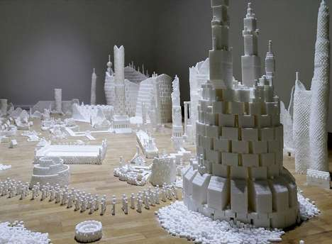 Saccharine Community-Constructed Sculptures - Brendan Jamison and Mark Revels Build Sugar Metropolis