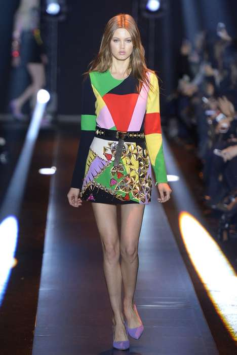 Electric Patchwork Collections - The Fausto Puglisi Fall 2014 Collection is Pulsating with Energy