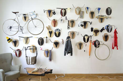 Retro Recycled Bicycle Art - Andreas Scheiger Uses Old Findings to Create Bike Seat Art