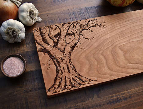 Romantically Engraved Chopping Boards - These Custom Cutting Boards Make a Great Gift for Loved Ones
