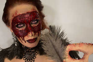 Sandra Holmbom Makes a Masquerade Mask Out of Her Own Face