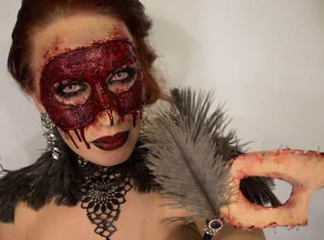 Grotesquely Gory Flesh Masks - Sandra Holmbom Makes a Masquerade Mask Out of Her Own Face