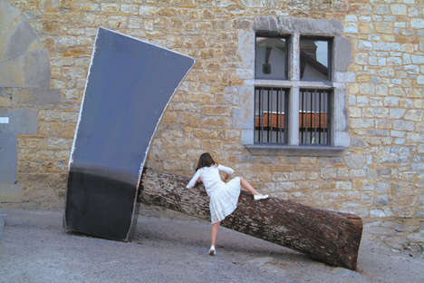 Massive Art Installation Sculptures - The Wood Installation Art by Christophe Doucet is Grand