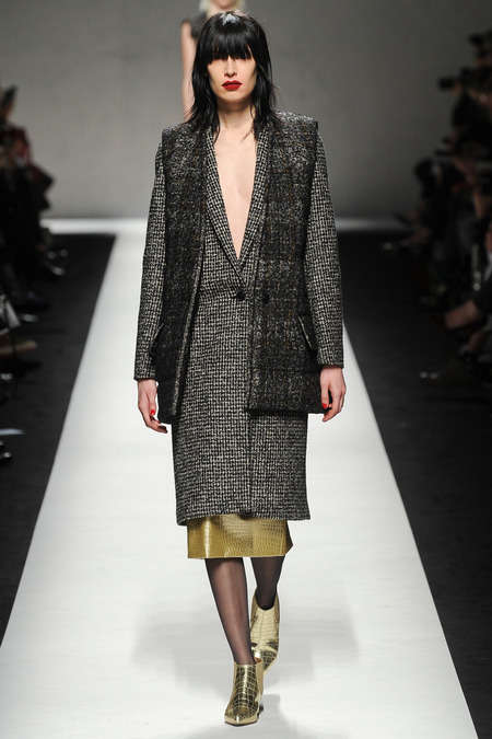 Somber Metallic Fall Collections - The Max Mara Fall 2014 Collection is All About Texture