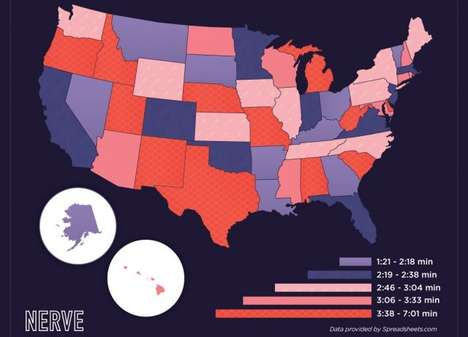 Time-Comparing Intercourse Maps - This Map of the US Shows Intimacy Patterns in Different States