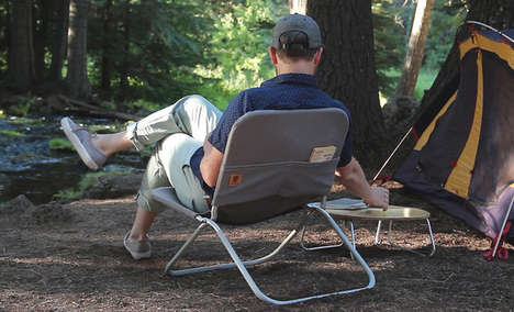Modernized Folding Chairs - The Shape Field Chair is Perfect for Many Outdoor Situations