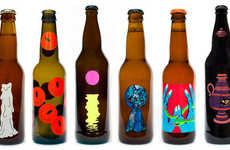 Daydream-Inspired Beer Labels - The Psychedelic Beer Bottle Designs by Karl Grandin are Eye-Popping