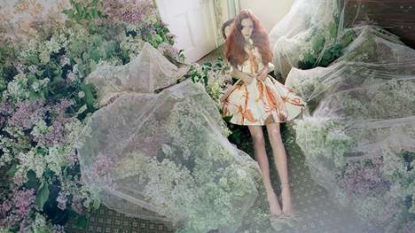 Enchantingly Soft Fashion Ads - The RED Valentino Spring 2014 Campaign Stars Natalie Westling