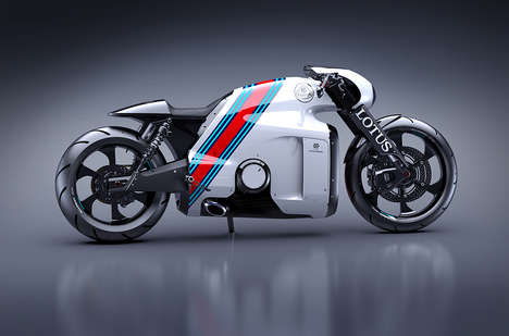 Slick Real-World Superbikes - The Lotus C-01 Motorcycle is Conceived by TRON Designer Daniel Simon