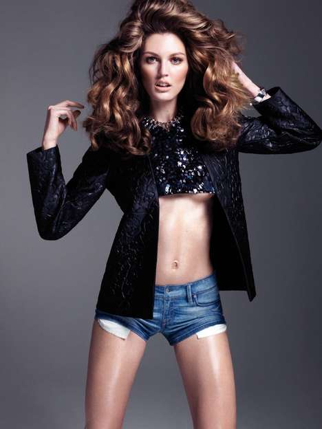 Mix-and-Match Denim Editorials - The ELLE Vietnam March 2014 Photoshoot Stars Ali Stephens