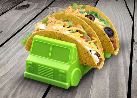 Adorable Auto Taco Stands - The Taco Truck Taco Holder Makes Eating Mexican Cuisine Much Easier