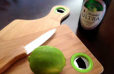Bottle-Opening Culinary Boards - The B.O.B Cutting Board is a Great Party Accessory