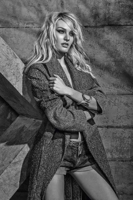 Disheveled Dark Denim Lookbooks - The Forum Winter 2014 Campaign is Sizzling and Broody