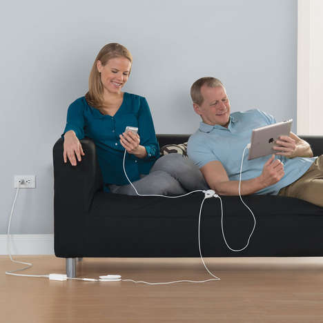 Extended USB Hubs - The LifeHub 3 Device USB Charger is Perfect for Multiple Plug-Ins