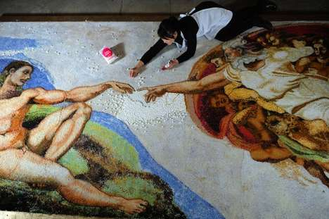 Edible Famous Paintings - The Baking of Adam by Michelle Wibowo Recreates Michelangelo