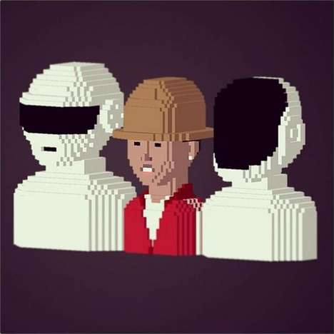 Pixelated Artwork Apps - The LEBLOX App Lets You Create 3D Pixelated Figures