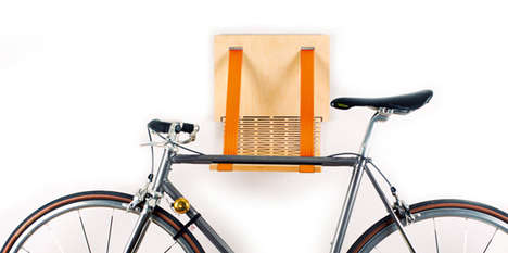 Bent Lumber Bicycle Ledges - Flxble Bike Dock Offers an Organic Way to Store Your Conveyance Inside