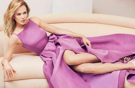 Pastel-Clad Celeb Editorials - The InStyle US March 2014 Cover Shoot Stars Nicole Kidman