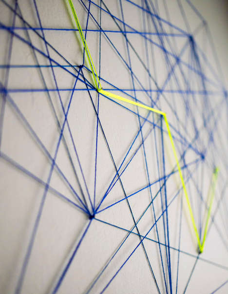 Threaded Wall Decals - This Crafty DIY Activity Turns Pieces of Thread into Abstract Wall Art