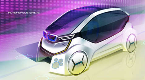 Mod Autonomous Automobiles - The BMW Honey Comb Concept Changes the Nature of Driving