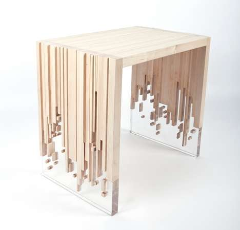 Deceptively Disintegrating Tables - Weightlessness by Eugene Tomsky is a Sculpturally Surreal Design