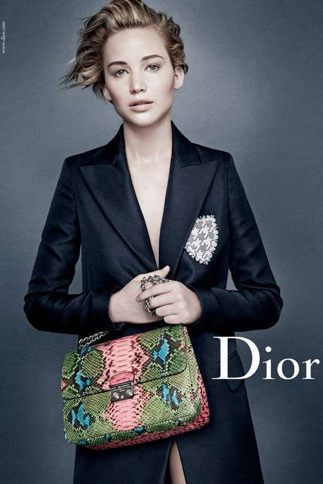 Natural Beauty Fashion Ads - The Miss Dior Spring-Summer 2014 Campaign Stars Jennifer Lawrence