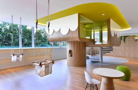 Cheerful Contemporary Schools - The Spring Learning Center by Joey Ho Design is Minimalist & Playful