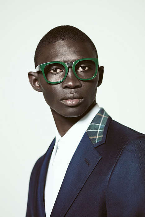 Dapperly Dramatic Eyewear - The A. Sauvage Spring/Summer 2014 Eyewear Collection is Italian-Made