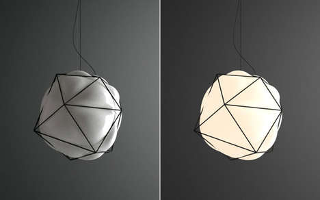 Geometric Bubbling Lighting - The Semai_Blown Glass Lamp is Sculpturally Chic