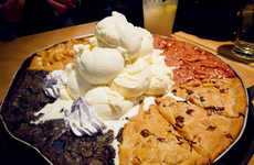 Cookie-Combined Dessert Pizzas - The Pizookie Party Platter Has Something for Everyone