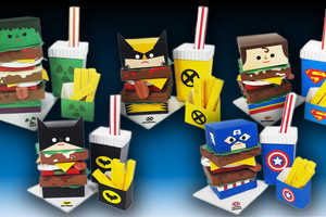 This Hero Burger Art Turns Comic Book Heroes into Tasty Fast Food Meals