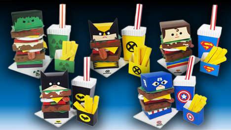 Superhero Fast Food Meals - This Hero Burger Art Turns Comic Book Heroes into Tasty Fast Food Meals