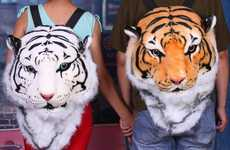 Plush Exotic Feline Backpacks