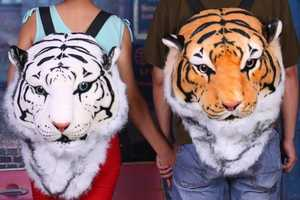 Carry Your School Belongings in Your Tiger Head Backpack