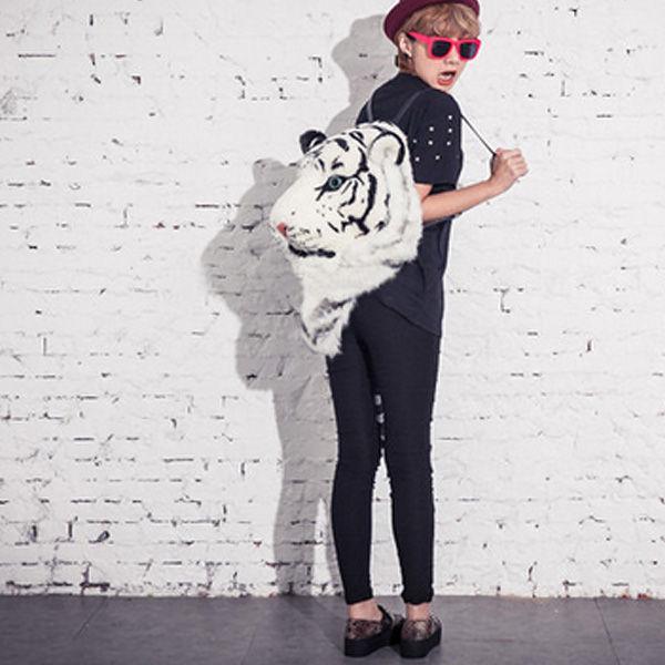tiger head backpack