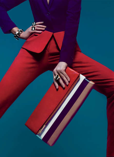 Geometric Color-Blocking Editorials - Scarisbrick Shot Samantha Gradoville for W Magazine March 2014