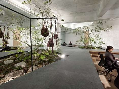 Garden-Embedded Interiors - The SISII Office Brings Refreshing Elements Together Under One Roof