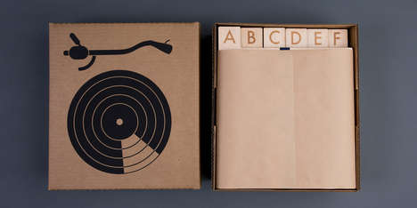 Wooden Vinyl Organizers - Laser Cut A-Z Record Dividers Make a Warm New Home for Your Old LPs
