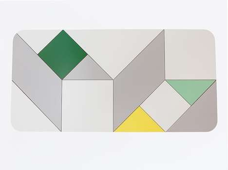 Perfectly Puzzling Tabletops - The Tangram Table Has a Playful Look to Lighten Up Your Interiors