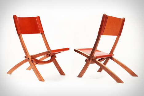 Luxe Collapsible Seating - The Tanner Goods Nokori Folding Chair is Inspired by Mid-Century Design
