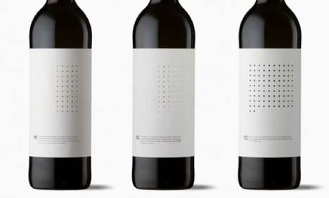 Spotted Matrix Marketing - Ninety Wine Packaging Has a Dotted Grid to Graphically Represent Quality