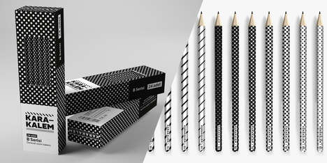 Patterned Implement Designs - Karakalem Pencils Packaging Playfully Inspires Artistic Application