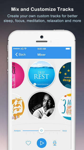 Track-Mixing Relaxation Apps - The Omvana Meditation App Lets Users Overlay Ambient & Vocal Tracks