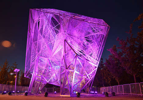 Illuminated Cube Installations - Oyler Wu Collaboration Made this Installation for Beijing Biennale