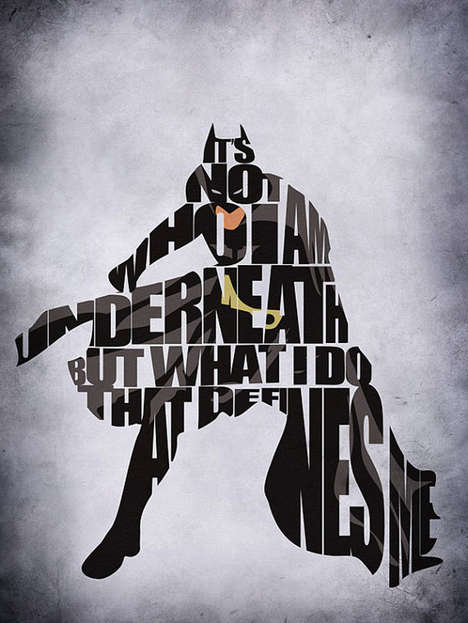 Bold Typographic Superhero Posters - Decorate Your Wall with These Comic Book Typography Prints