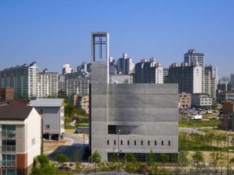 Massive Modern Sanctuaries - The Neulsam Church Embodies Contemporary Design as a Concrete Monolith